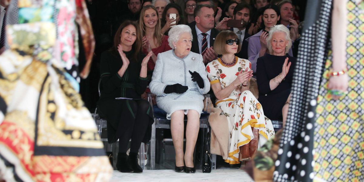 Queen Elizabeth Sat Front Row at London Fashion Week
