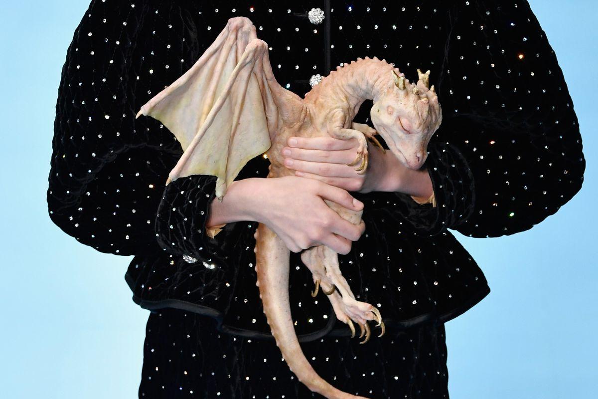 Gucci Sent a Sleeping Baby Dragon Down the Runway