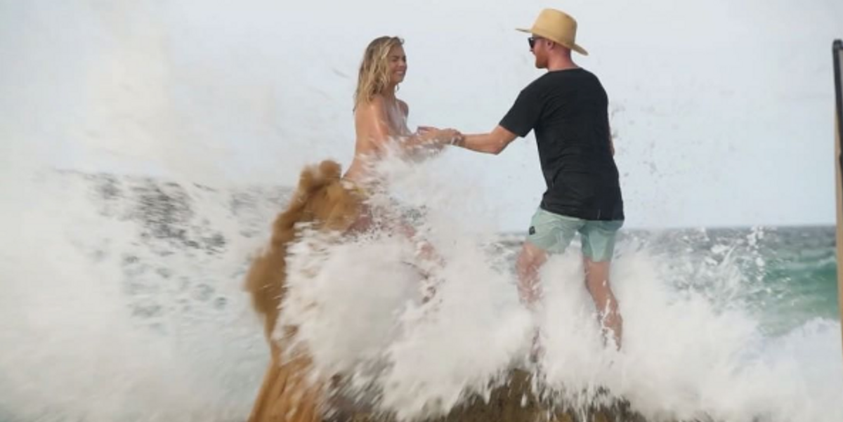 Kate Upton Fell Naked Into the Sea During a Photoshoot