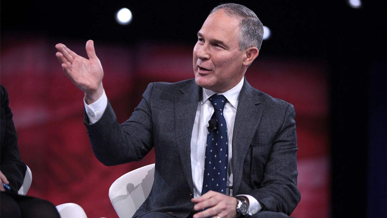 EPA Head Scott Pruitt Has a 'Blanket Waiver' to Fly First Class