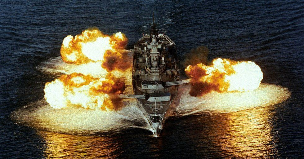 What would happen in a fight between an old battleship and a new