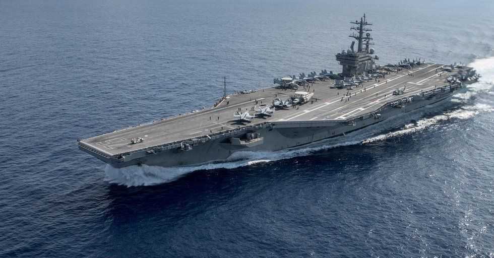 The Navy has 7 nuclear carriers at sea for the first time in years