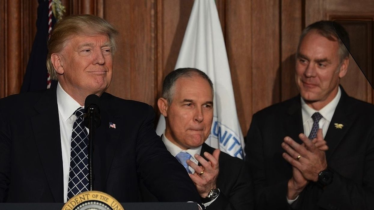 Scott Pruitt Voted Worst Trump Minion, Ryan Zinke Runner-Up