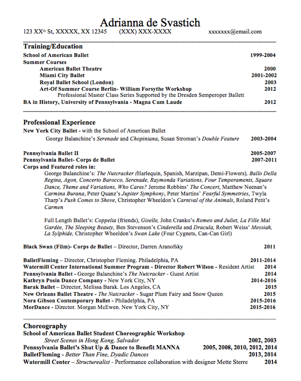 Dance Resume Format from assets.rebelmouse.io