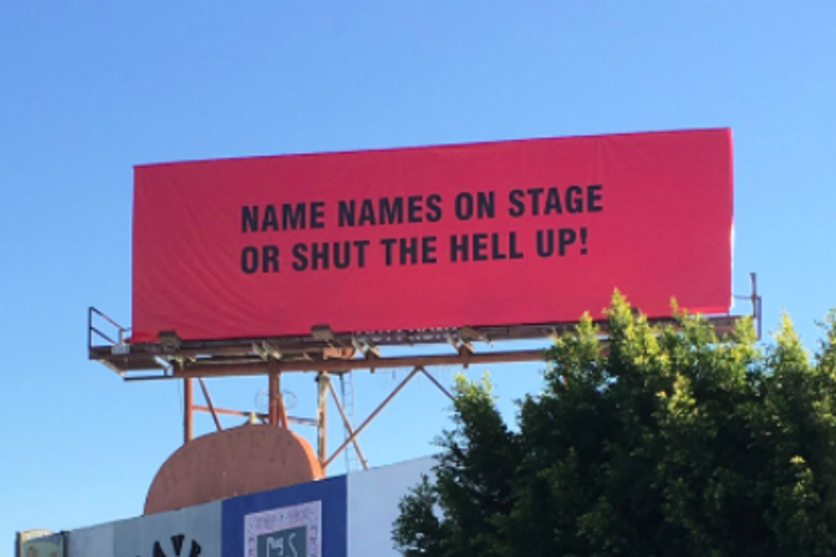 Street Artist Puts Up Billboards Calling Out Hollywood's Silence on Sexual Assault
