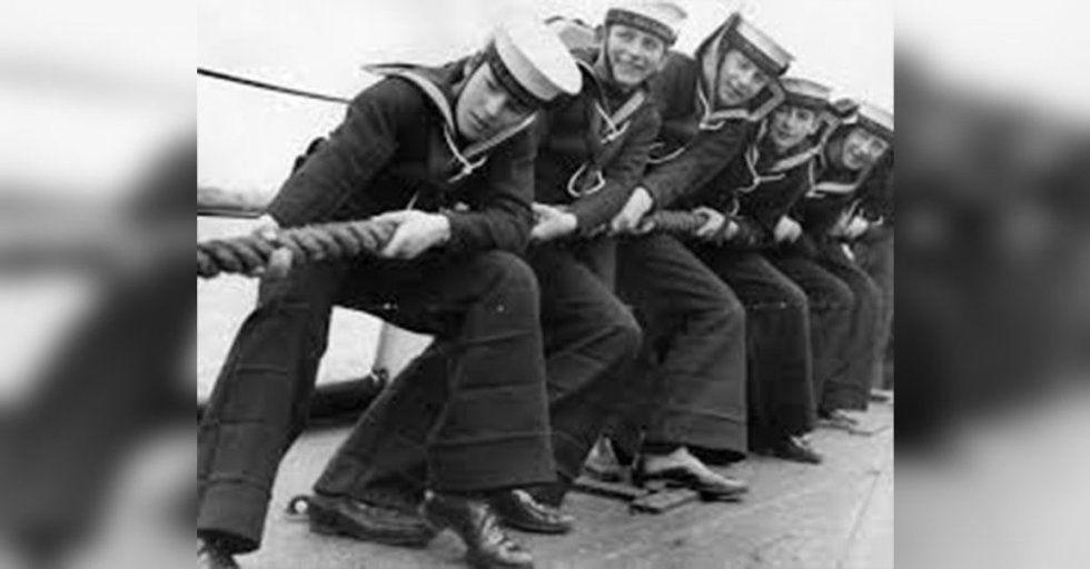 British Royal Navy Rn Class Ii Black Flared Bell Bottom Sailors Trouser Uniforms & Bdus