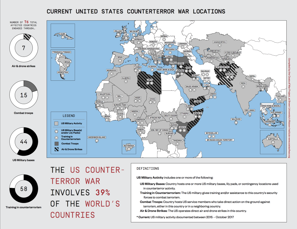 Here are the 76 countries where the US is fighting terrorism - We ...