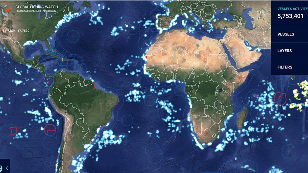 New Maps Reveal Industrial Fishing in More Than Half of World's Oceans