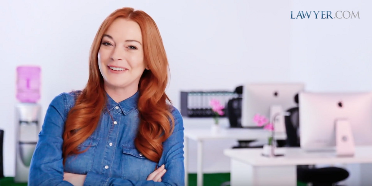 Lindsay Lohan Is the Face of... Lawyer.com