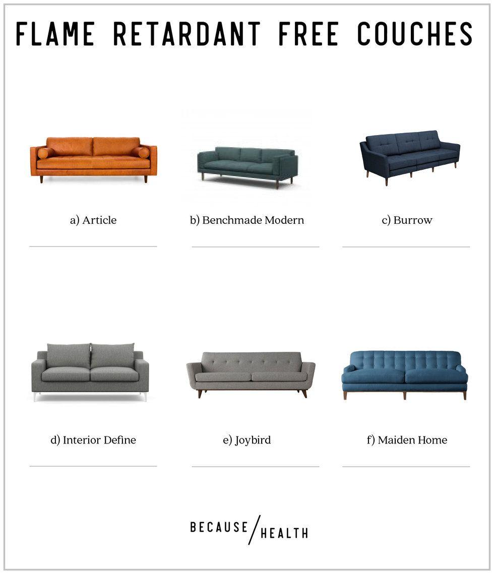6 Flame Retardant Free Modern Couches