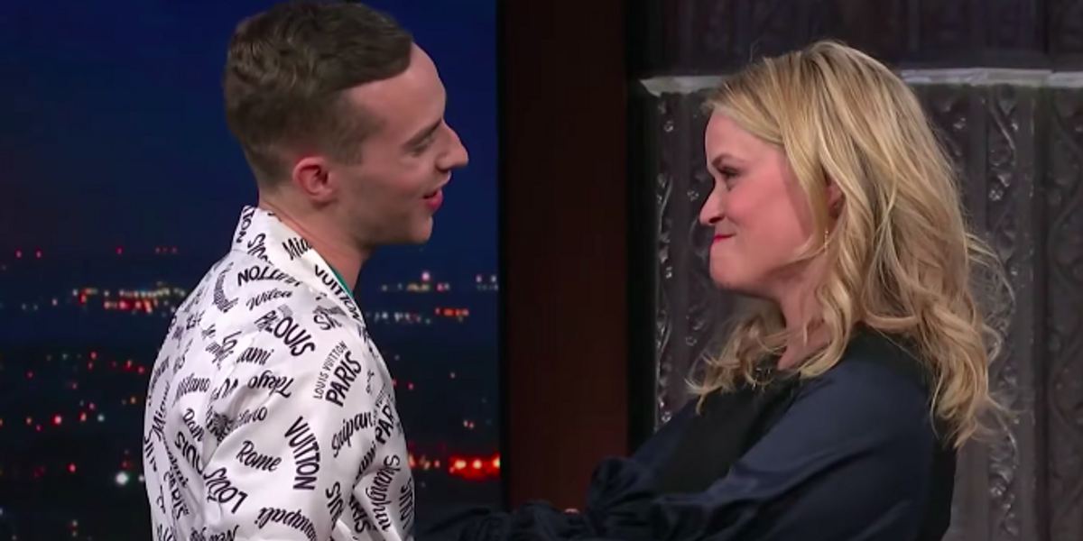 Adam Rippon and Reese Witherspoon Finally Met Each Other