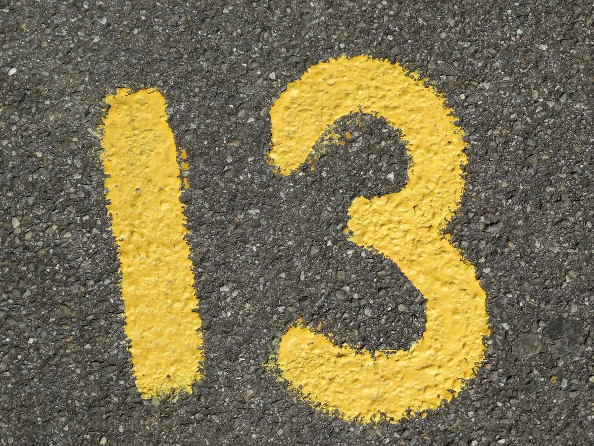 If You're Afraid Of The Number 13, You Have 'Triskaidekaphobia'