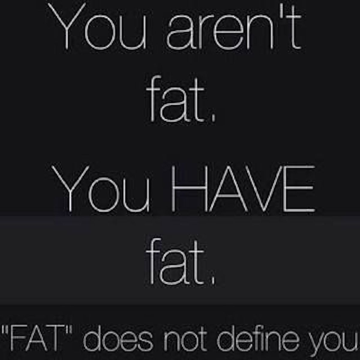 FAT Is Not An Adjective