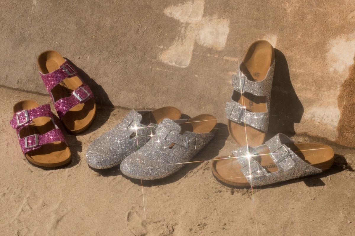 Opening Ceremony X Birkenstock Glitter Sandals are Everything