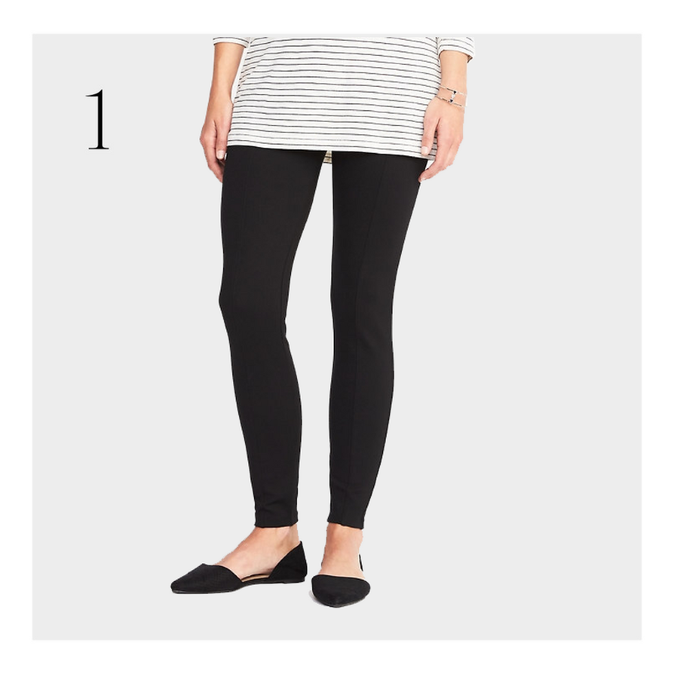 331c44a346df22 The just-starting-to-show leggings: Old Navy High-Rise Stevie Built-In  Sculpt Pants