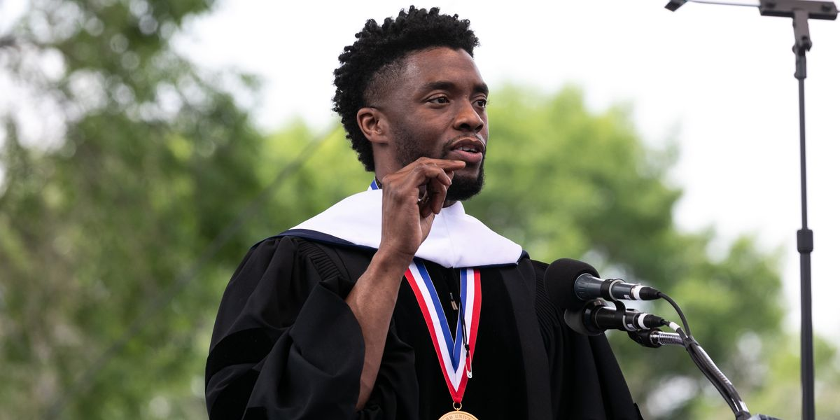 Chadwick Boseman Delivers Commencement Speech at His Alma Mater