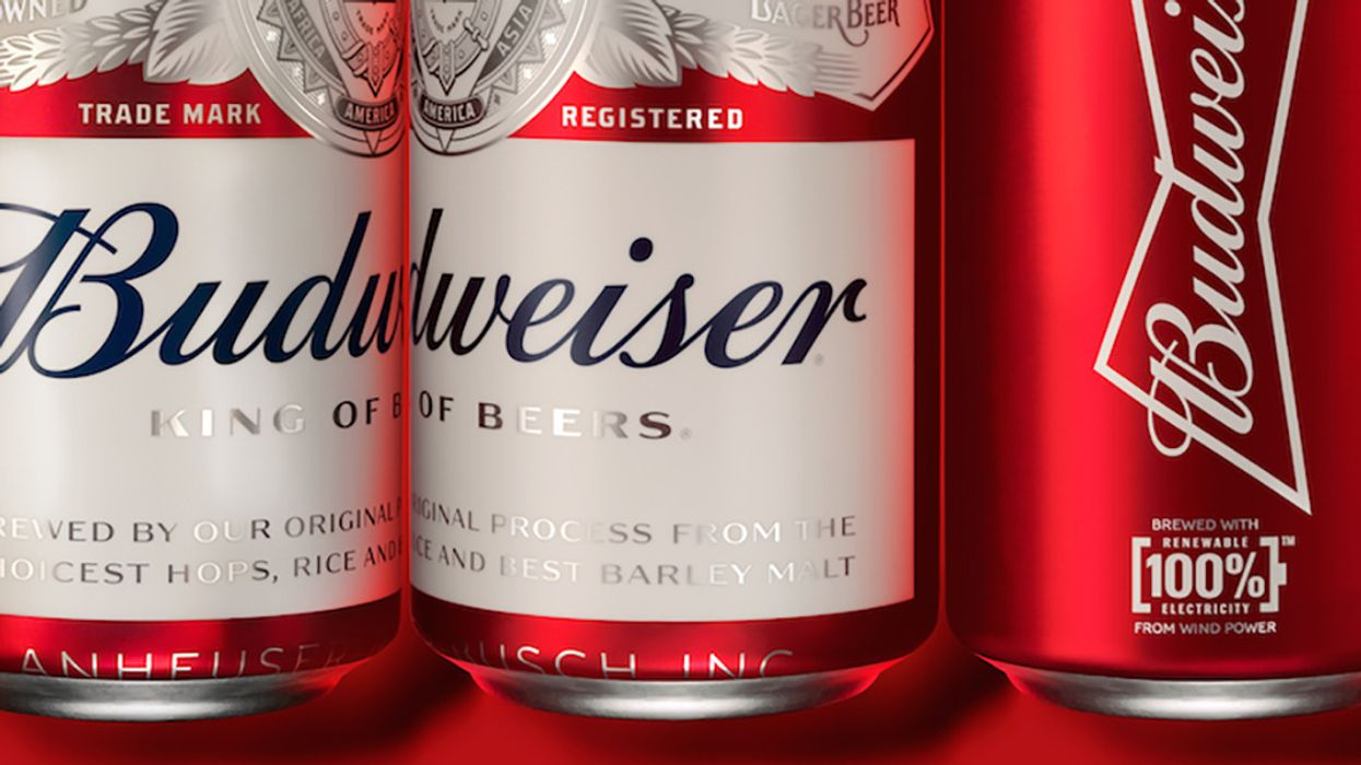 Budweiser Re-Labels As Climate-Friendly Beer