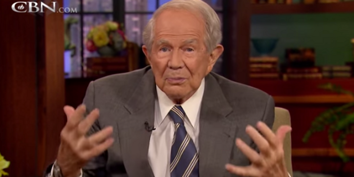 Get Filled Up And Gushed On By God, With Pat Robertson