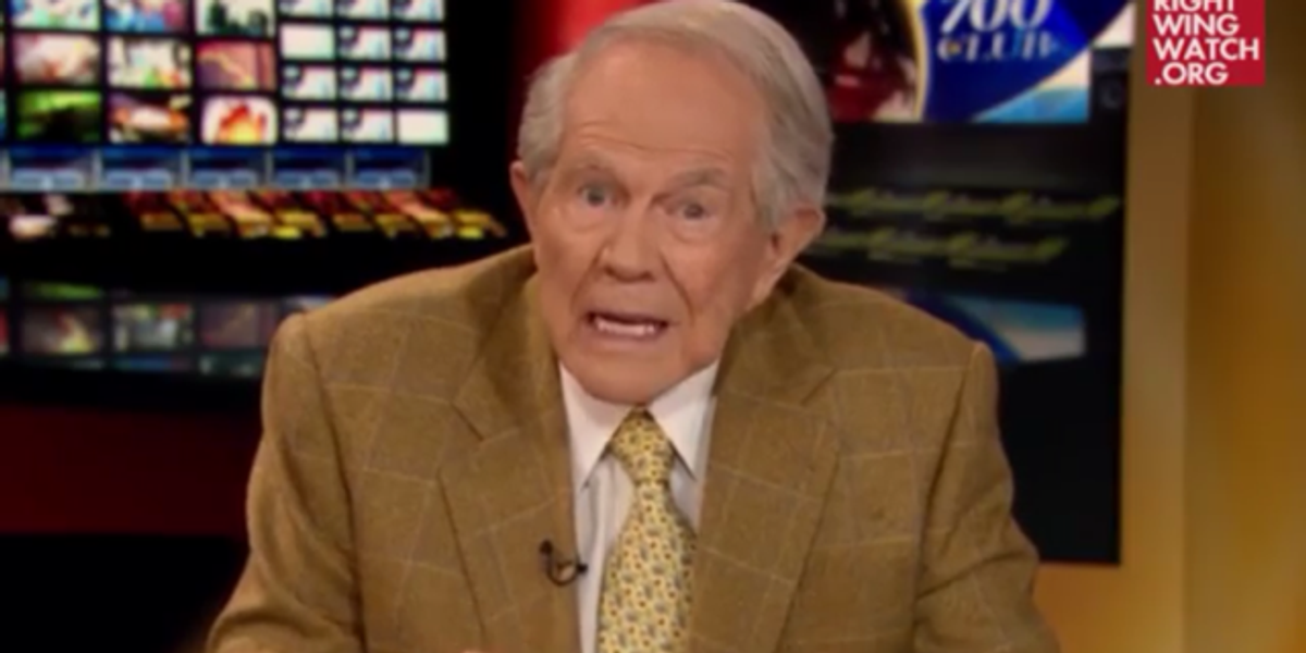 Pat Robertson Wishes The Homosexuals Would Stop Thrusting Into Him So Hard