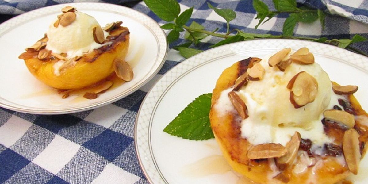 Grill Peaches In Honor Of St. Lawrence, Soak Them In Booze In Honor Of Yourself