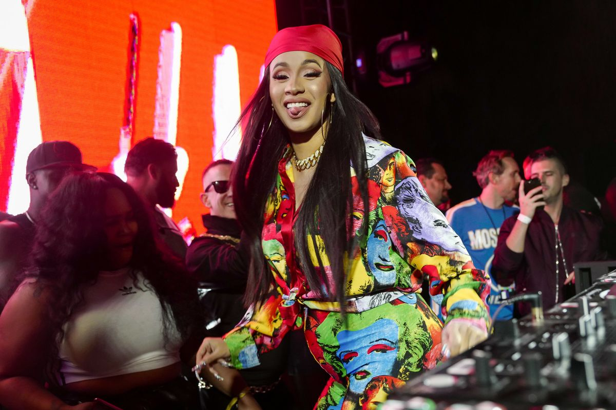 Cardi B Wore a Blanket With Her Face On It Because She's Got It Like That
