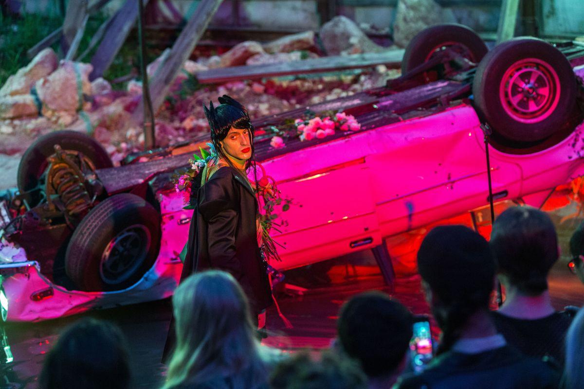 The Set Designer Behind Arca's Hedonistic Car Crash Performance