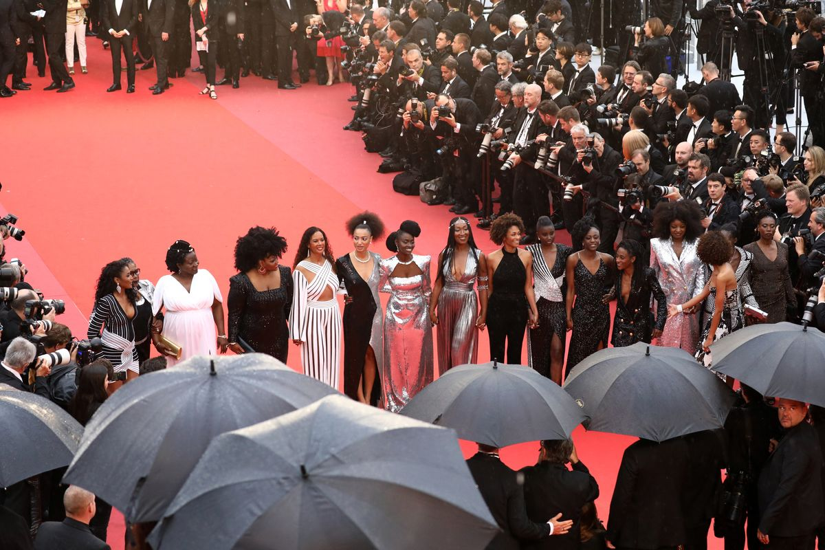 Black Actresses Walk the Red Carpet in Pouring Rain to Protest Racism