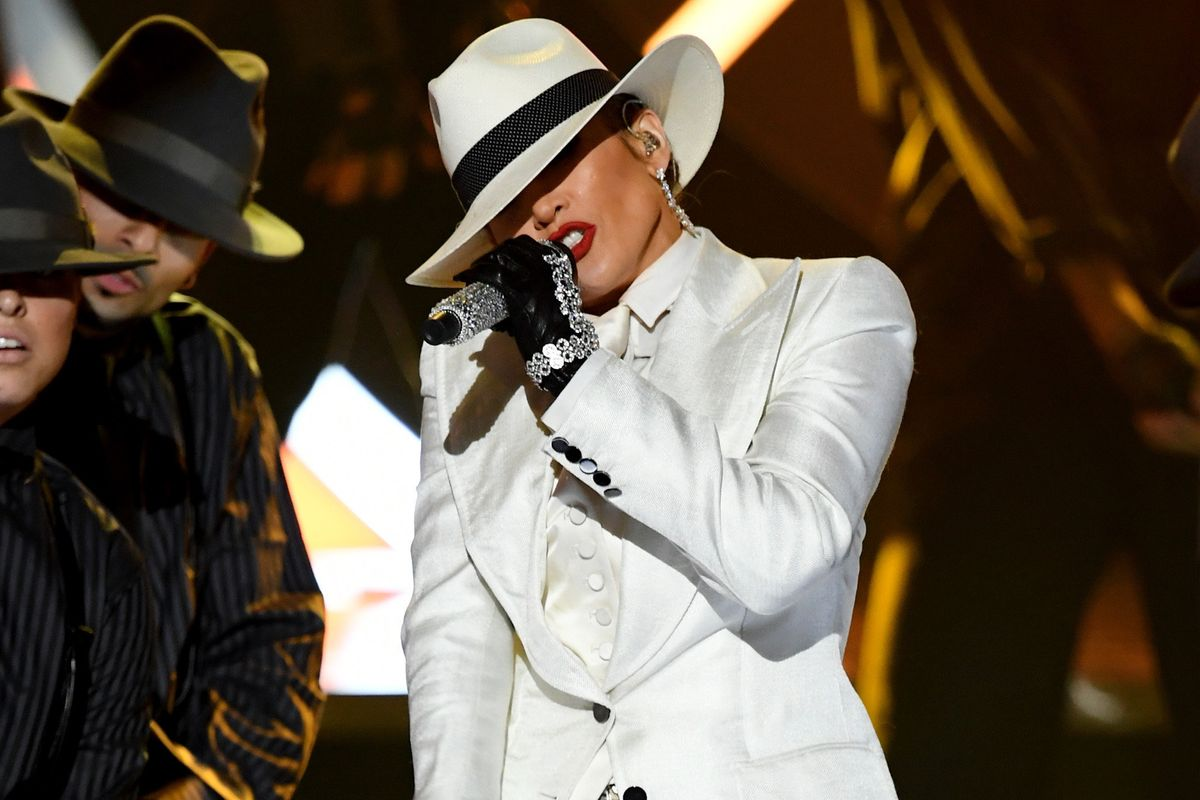 J.Lo Wore a Three-Piece Suit to the BBMAs in Honor of the Jacksons