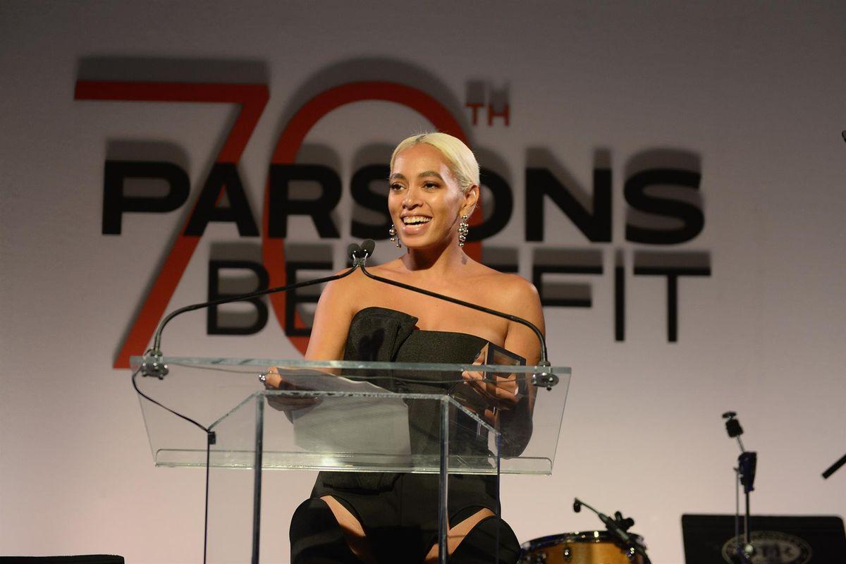 Solange Talks Avant Garde Fashion at Last Night's Parsons Benefit