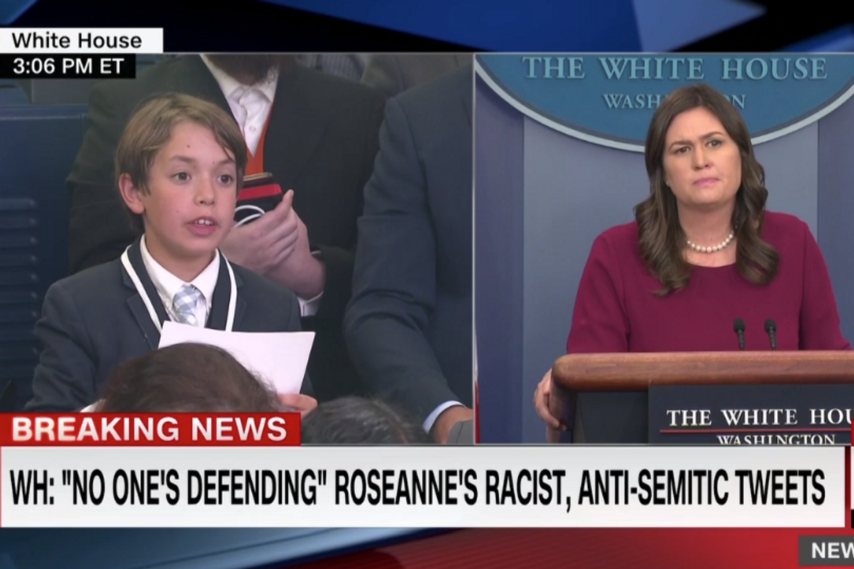 Sarah Huckabee Sanders Cries When a Child Asks Her About Gun Control Measures