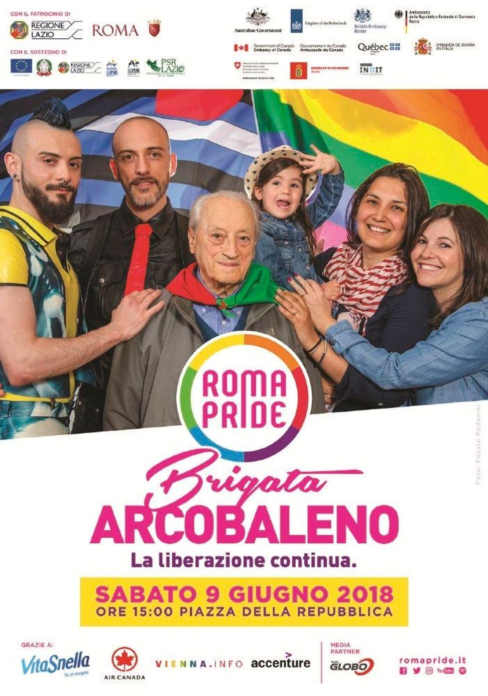 L'ultima pagliacciata dei partigiani:«brigata arcobaleno» al Gay pride