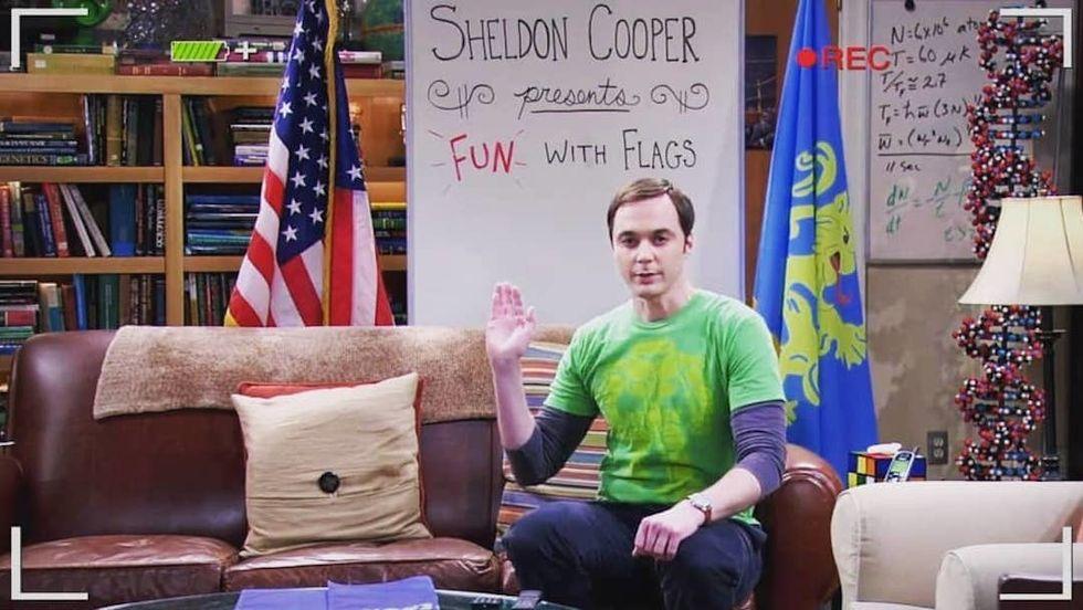 sheldon cooper fun with flags