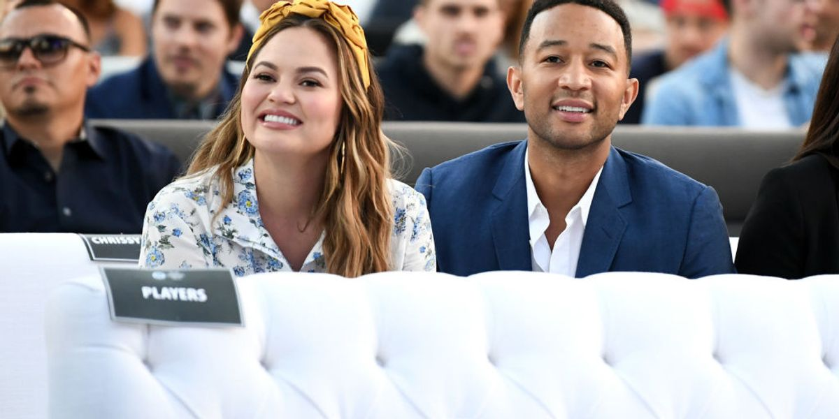 Chrissy Teigen and John Legend Bring Baby Miles to His First Rally