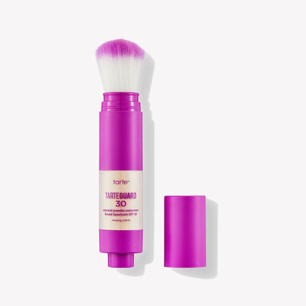 best self care travel essential tarte mineral powder sunscreen