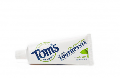 best self care travel essentials tom's natural toothpaste