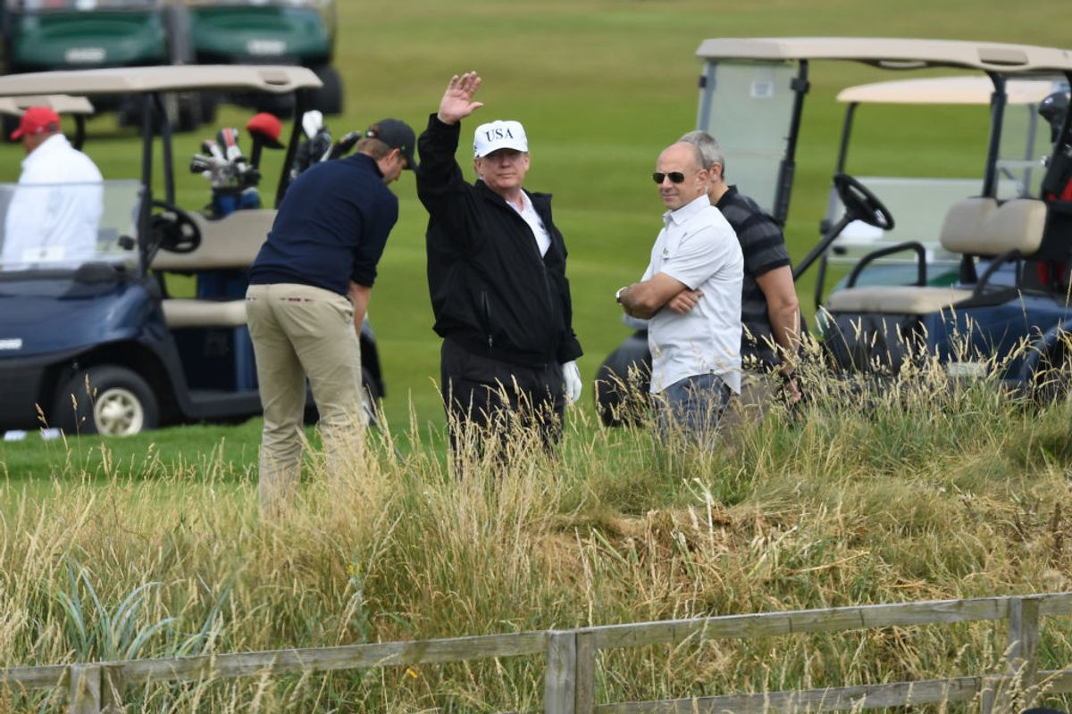 Thousands Protest Trump in Scotland while the POTUS Plays Golf