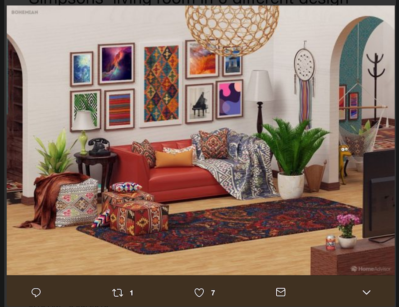 Hereu0027s The Bohemian Themed Living Room Redo: Share Using Facebook ...