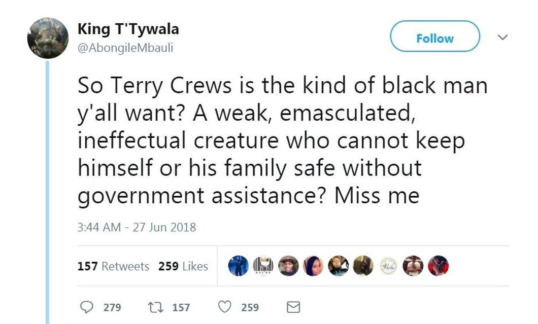 King T'Tywala's tweet