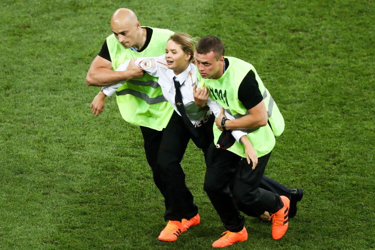 Pussy Riot Takes to the Field at World Cup Final