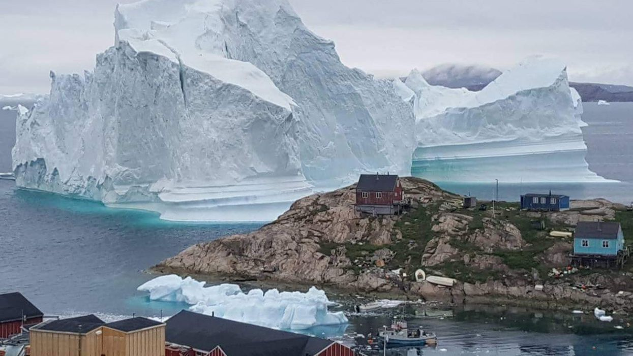 Giant Iceberg Threatens Tiny Greenland Village