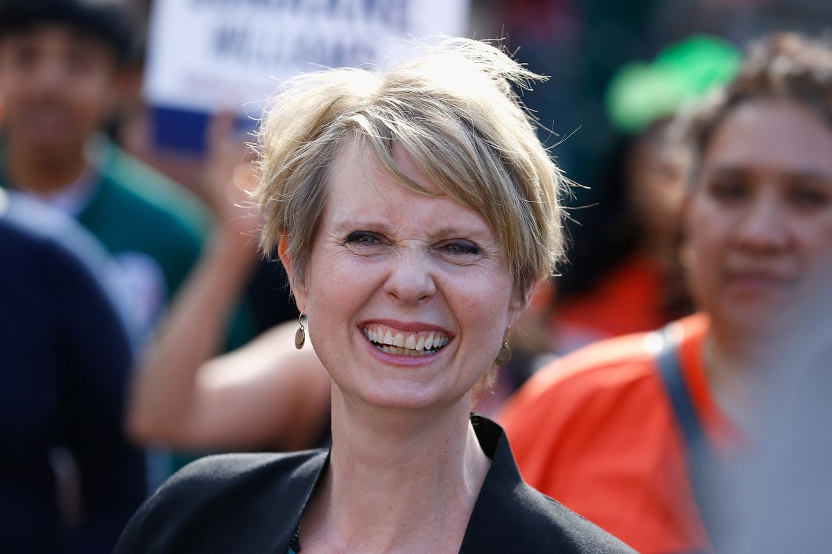 Mr. Big Supports Cynthia Nixon's Campaign