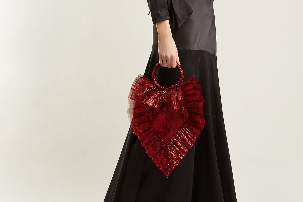 BRB, Buying: This Spellbinding, Blood Red Lamé Clutch
