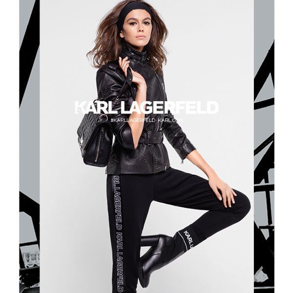 Kaia Gerber Does Sweatband Chic In Karl Lagerfeld's Fall Campaign