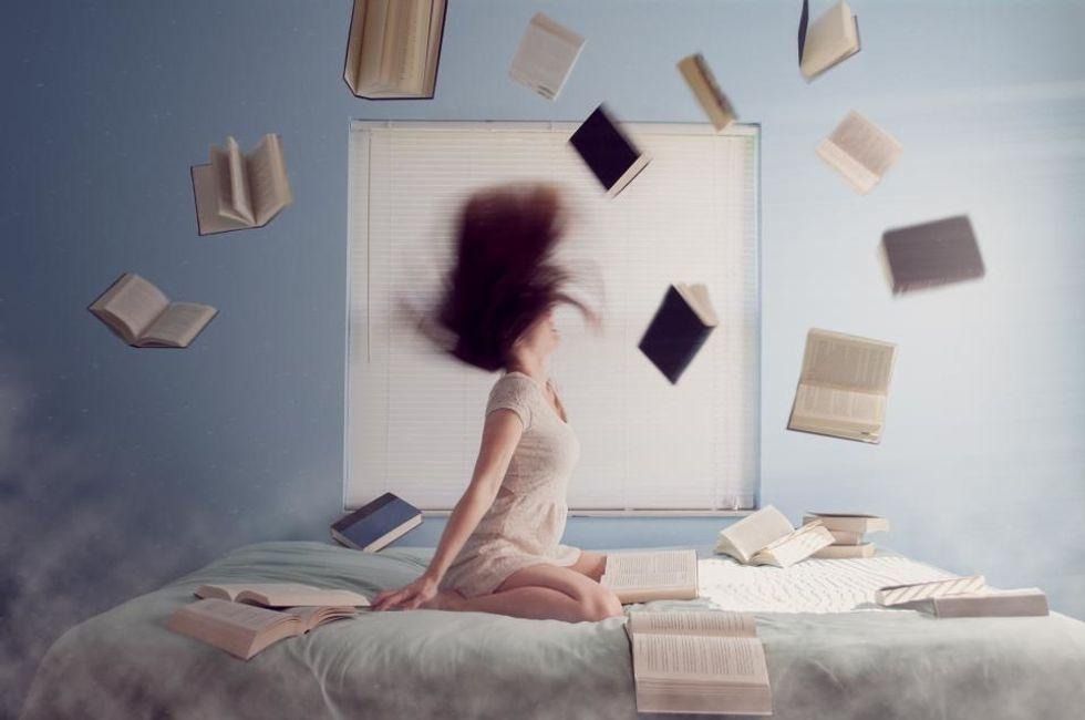 it's raining books, hallelujah