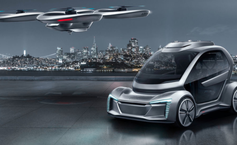 Audi Pop-Up Next flying car concept