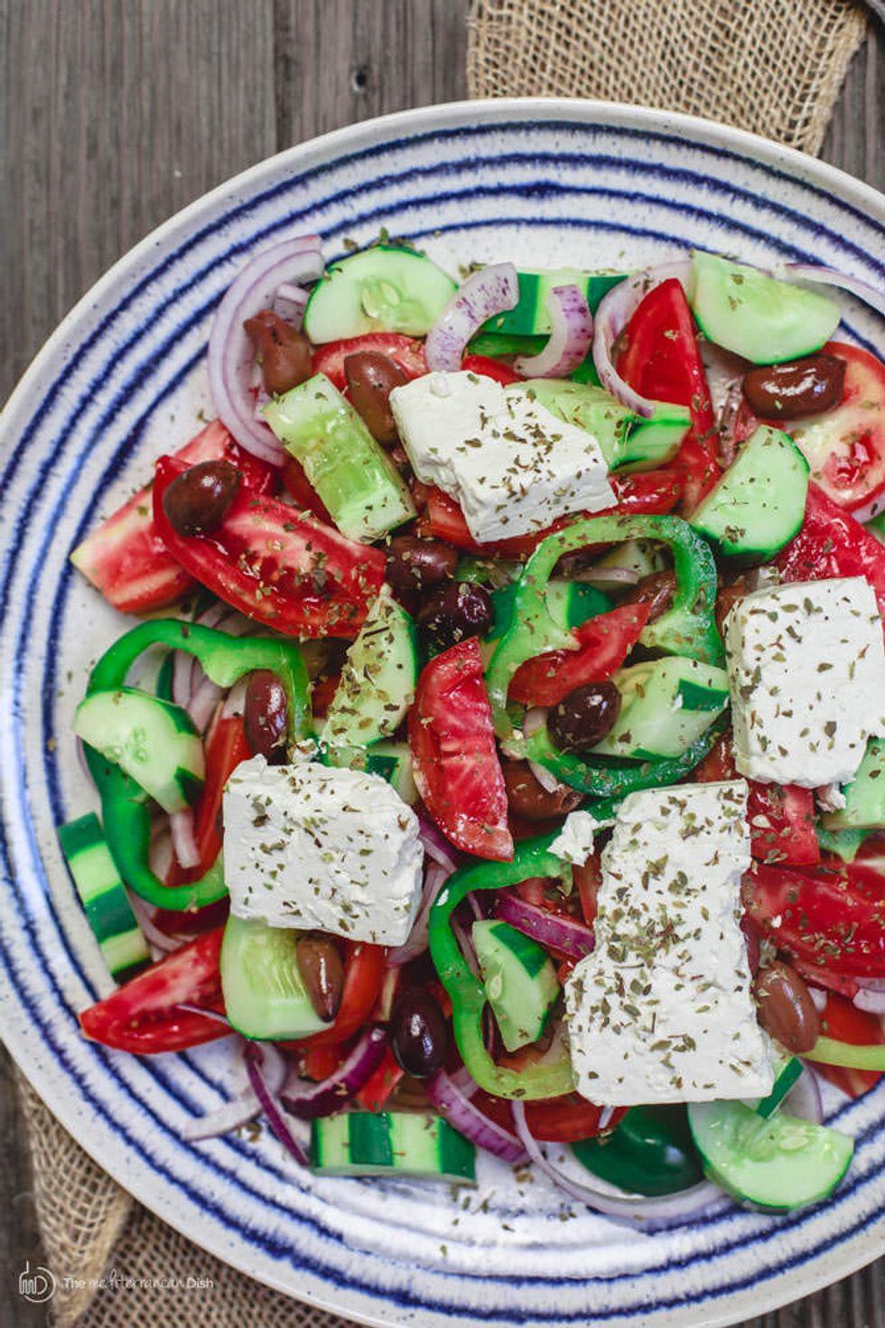 Best Salads From Around The World Mediterranean Greek Salad