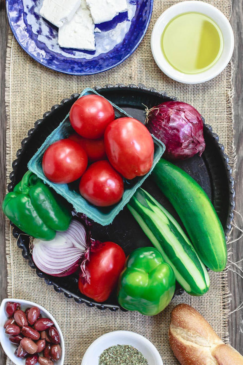 Best Salads From Around The World Greek Mediterranean Salad Ingredients