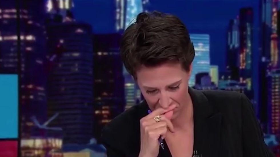 rachel maddow cries on air
