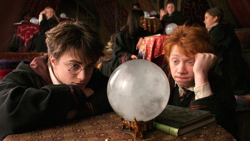 harry potter and ron weasley crystal ball