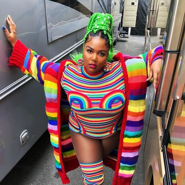 The Body Positive Designer Behind Lizzo's Rainbow Pride Look
